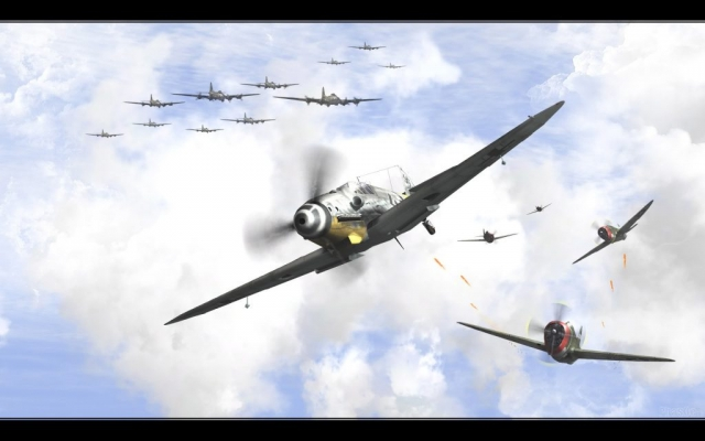 12th May 1944 Günther Rall meets up Col. Hubert Zemke's Wolf Pack in the skies over Germany.