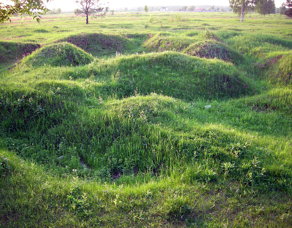 Nevsky Pyatachok - remnants of Russian trenches