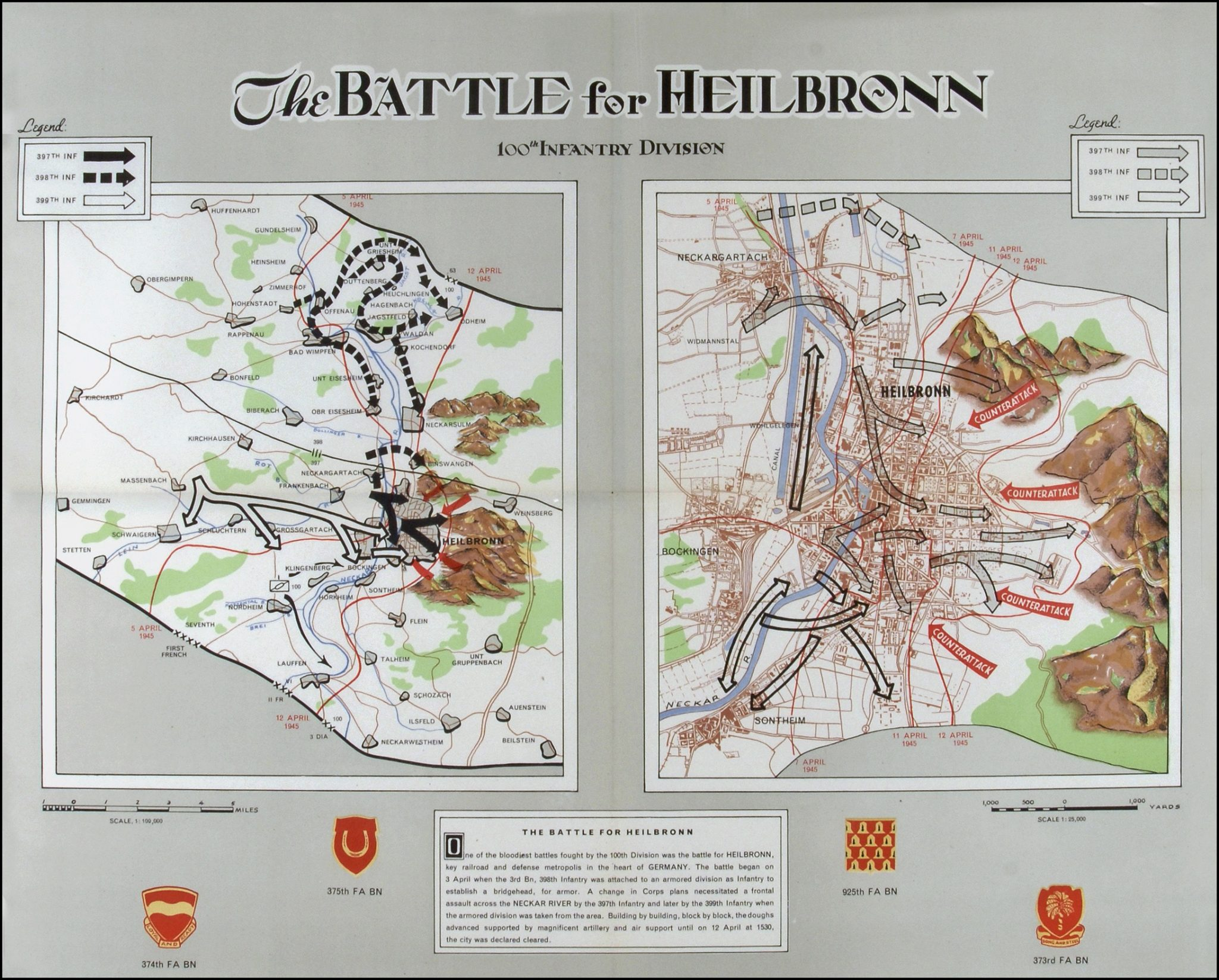 Battle of Heilbronn: map
