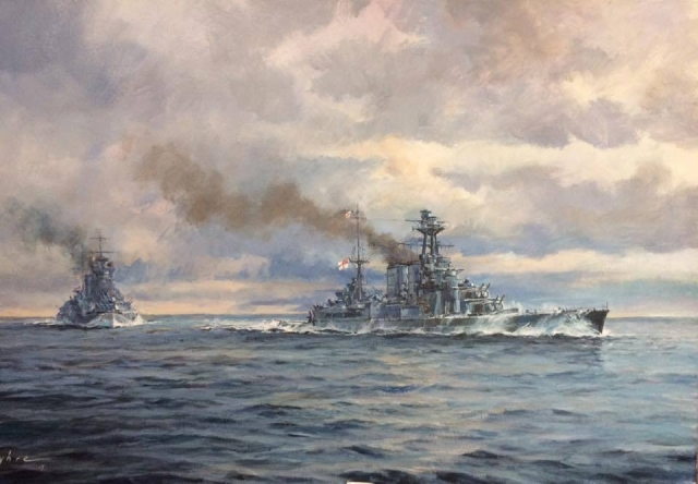 HMS Hood and HMS Prince of Wales by Dale Byhre
