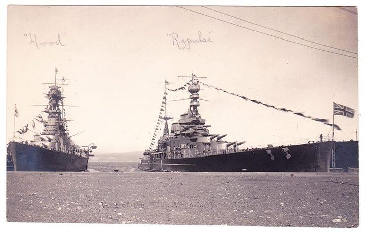 HMS Hood and HMS Repulse in Australia