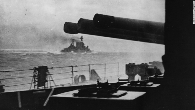 HMS Hood as seen from HMS Prince