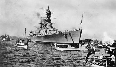 HMS Hood in Sydney Harbor (1924)