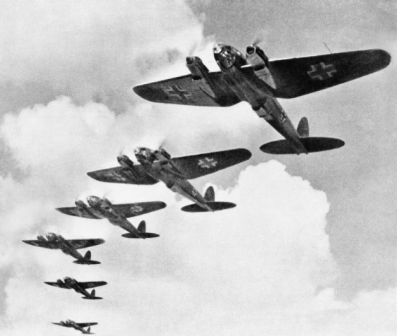 He 111 bombers during the Battle of Britain