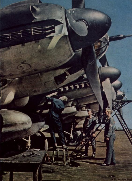 He 111 on an airfield