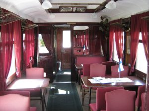 Interior of the saloon coach where the recording was made (The Hitler - Mannerheim conversation)
