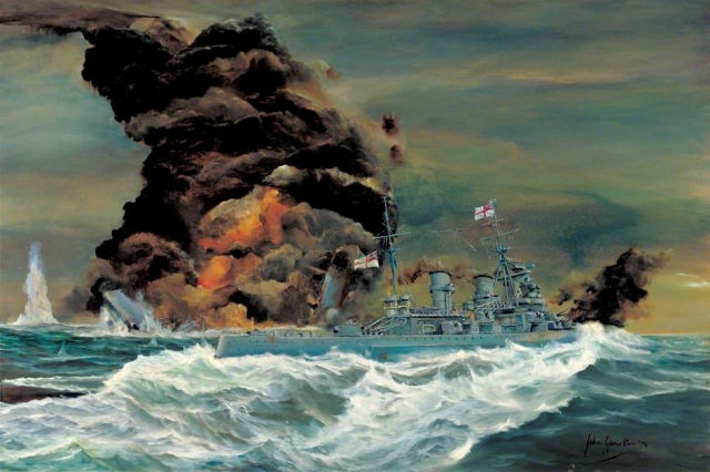 Hamilton, John Alan, 1919-1993 - the end of HMS Hood