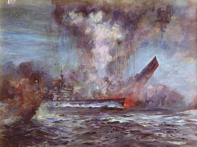 The sinking of HMS Hood