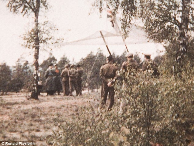 German high command surrendering to Montgomery in color © Ronald Playforth