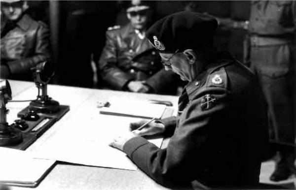 """The signing of the """"Instrument of Surrender"""""""