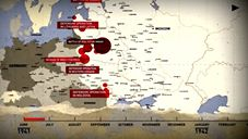 Timeline and map of the Eastern Front World War 2